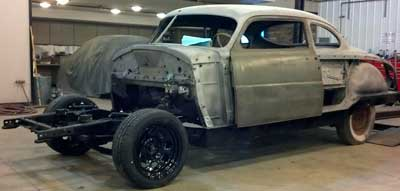 1951 Hudson Coupe rally car restoration